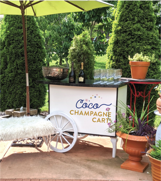 coco champagne cart